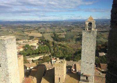 San Gimignano to Siena bike tour - view onto the village | bikeinflorence.com
