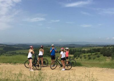 Florence to Siena one-day tour Crossing Chianti to Siena - View on hills   bikeinflorence.com