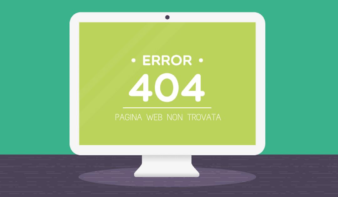 ERRORI 404 , un pericolo per tutto il sito