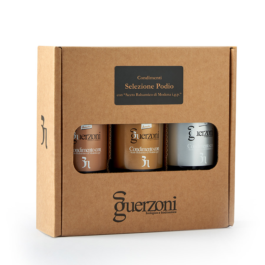 "Podio Selection Condiment with ""Balsamic Vinegar of Modena IGP"" BRONZE, SILVER AND GOLD"
